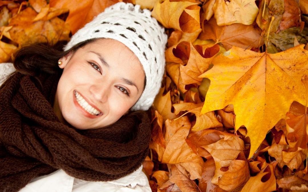Huidverzorging in de herfst.