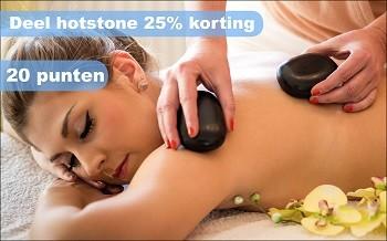 Deel hotstone 25% korting salon miranda spijkenisse